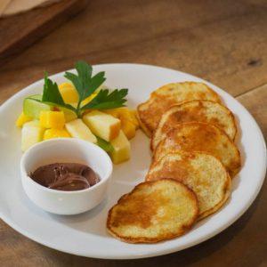 Bananenpfannkuchen mit Nutella