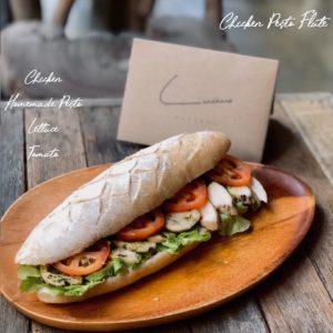 Chicken Pesto Sandwich - Landhaus Bakery Bangkok
