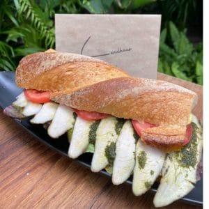 Chicken Pesto Sandwich Landhaus Bangkok