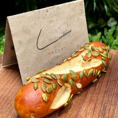 Pretzel Stick with pumpkin landhaus bakery bangkok