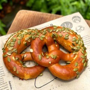 pretzel with pumpkin seeds - Landhaus Bangkok